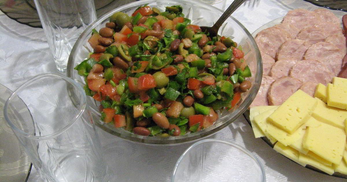 Салат с фасолью фото пошагово